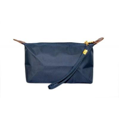 Nylon Cosmetic Bags w/ Wristlet - Navy -BG-HM1006NV