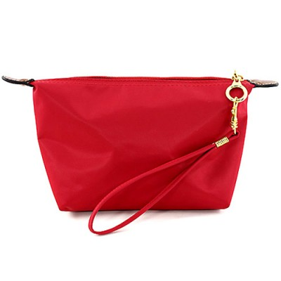 Nylon Cosmetic Bags w/ Wristlet - Red - BG-HM1006RD