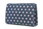 Denim Pink Star Cosmetic Bag - BG-PI023CPK