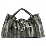 Patent Leather-Like Satchel - Gray - BG-LA56888GY