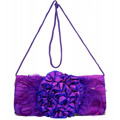 Evening Bag -  Flower - Purple - BG-90674PU