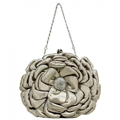 Evening Bag -  Rosettes - Beige - BG-92214BEI