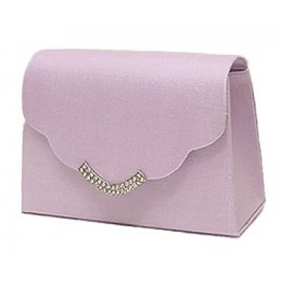 Evening Bag w/ Rhinestones - Lilac - BG-LB76686ALI