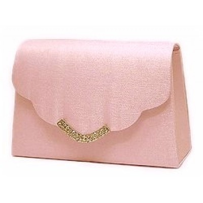 Evening Bag w/ Rhinestones - Pink - BG-LB76686APK