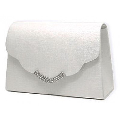 Evening Bag w/ Rhinestones - White - BG-LB76686AW