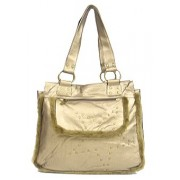 Shearling Handbag w/ Studs - Metallic Gold - BG-1744BZ