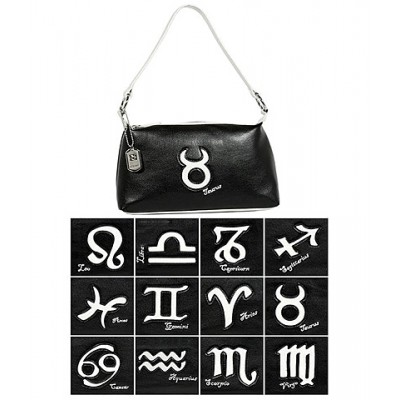 Horoscope Shoulder Bags -BG-HS969BK-WT