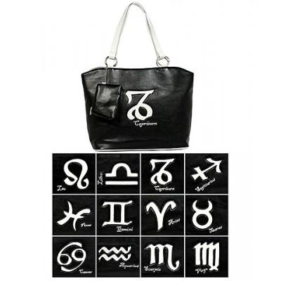 Horoscope Tote Bags - BG-HS971BK-WT