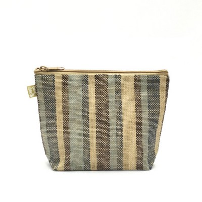 Jute Cosmetic Purses: Multi Stripes - CM-JTP107
