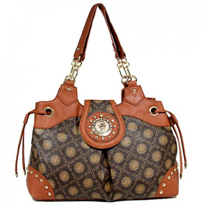 Monogram Satchel - Coffee -BG-1118COF