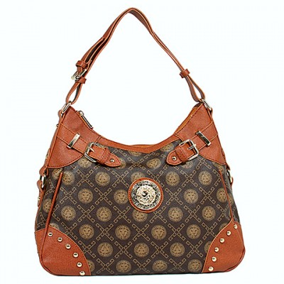 Monogram Satchel - Coffee - BG-1119COF