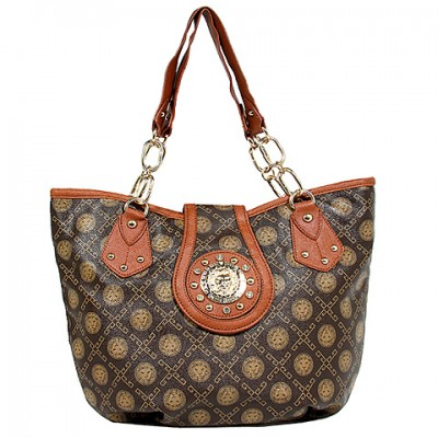 Monogram Satchel - Coffee - BG-1120COF