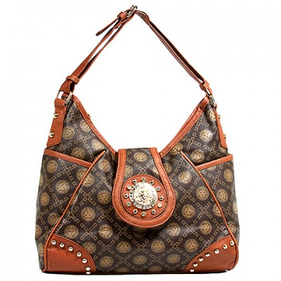 Monogram Hobo - Coffee - BG-1122COF