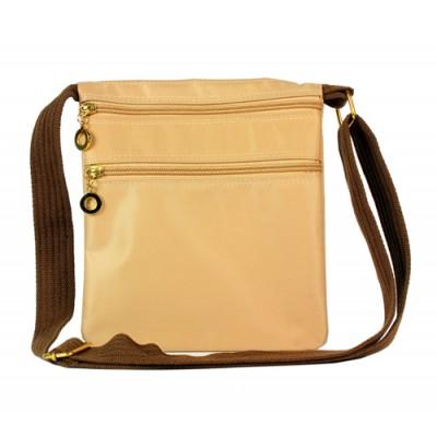 Nylon Messenger Bag - Beige -BG-HD1851BE