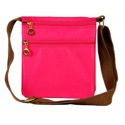Nylon Messenger Bag - Fuchsia - BG-HD1851FU