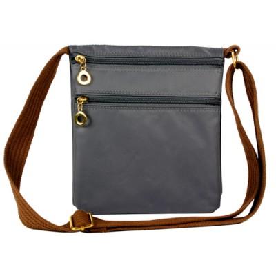 Nylon Messenger Bag -  Gray - BG-HD1851GY
