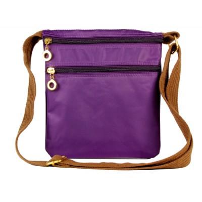 Nylon Messenger Bag - Purple -BG-HD1851PU