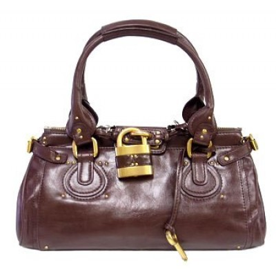Italian PU Leather Pad Lock Handbag/ Large -BG-2610PBN