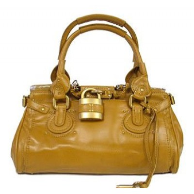 Italian PU Leather Pad Lock Handbag/ Large -BG-2610PCA