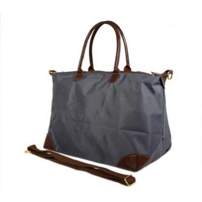 Nylon Large Shopping Tote w/ Nylon Shoulder Strap - Gray - BG-HD1294GY