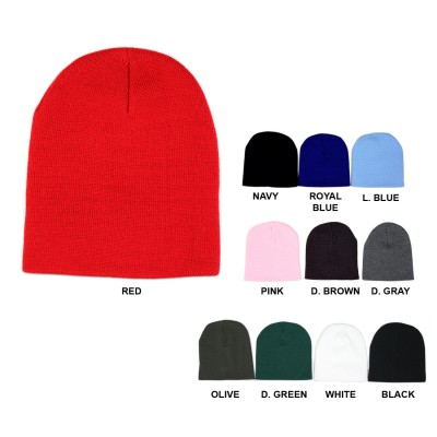 12-pc Cap - Winter Knitted Beanie Caps - HT-5002MIX