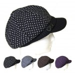 12 pcs Dotted Cabbie Hats - Assorted Colors - HT-8190-12