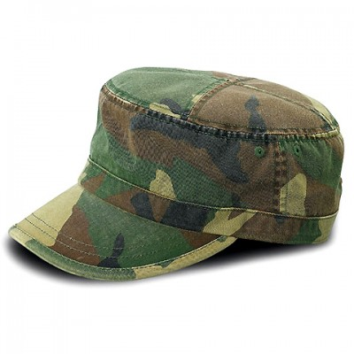 Military Cap - Enzyme Washed Cotton Twill - CAMO -HT-9028CAMO