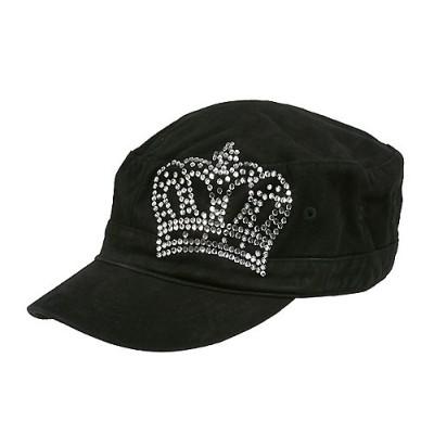 Military Cap W/ Crown Sign - Black - HT-CAP012