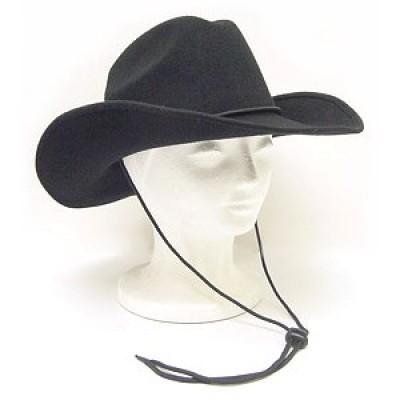 Wool Felt Cowboy Hat - HT-2057BK