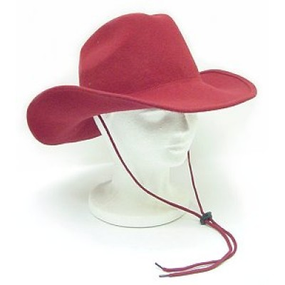 Wool Felt Cowboy Hat - HT-2057RD