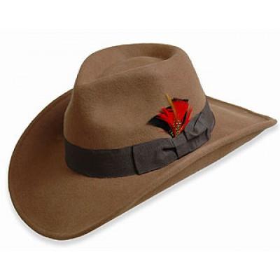 Western Style - Wool Felt - Brown - HT-54010BN