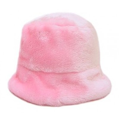 Faux Mink Reversible Bucket Hat - HT-514MPK