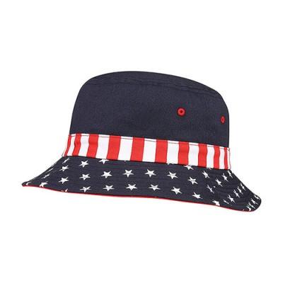 Bucket Hat - USA Flag Print - HT-7801F