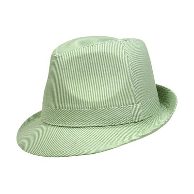 Fedora Hats - PinStripe Cotton - Green - HT-7815GN