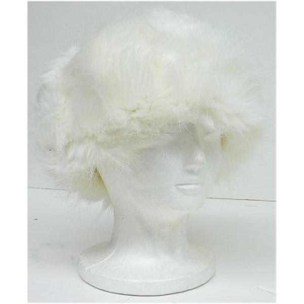 Ladies Faux Fur Hat -White - HT-8298WT