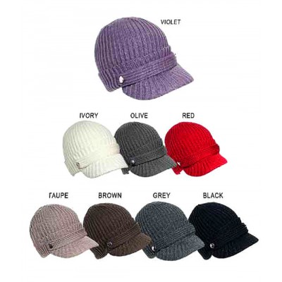 Cap - Cable Knit Cap w/ Matching Band - HT-11KH026