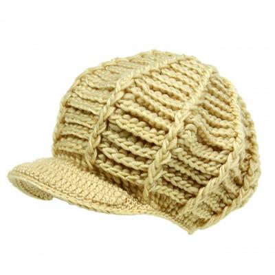 Cap - Crochet Cap - Cream - HT-H1256CM