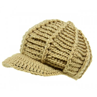 Cap - Crochet Cap - Tan - HT-H1256TN