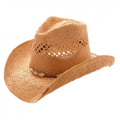 Straw Cowboy Hats: Toyo Straw - Brown - HT-8178BN
