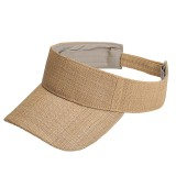 Visor - Raffia Straw W / Velcro Adjustable - HT-8403NT
