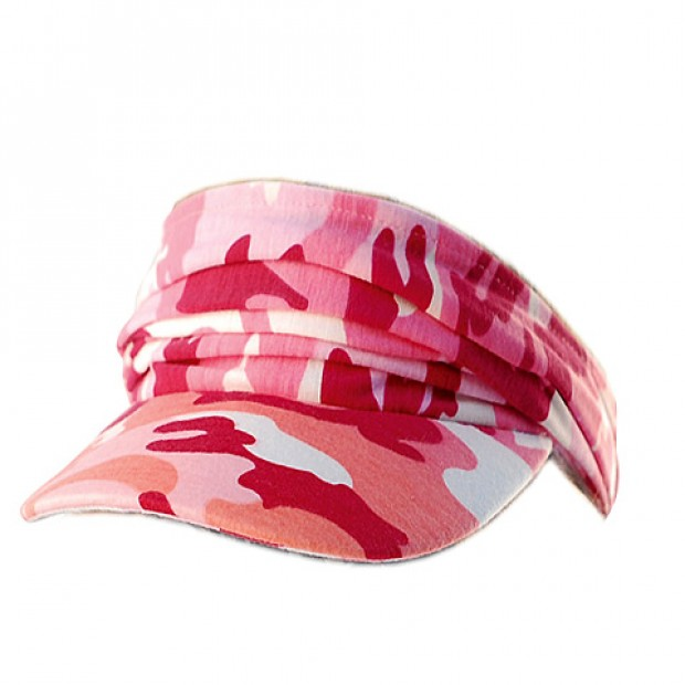 Visor Caps: Camouflage Polyester Convertible To Cap-Like - HT-4080A-PK