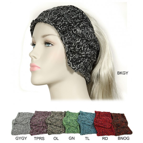 Knitted Head wraps / Neck Warmer - Crochet Mix - Color HB-11KH003