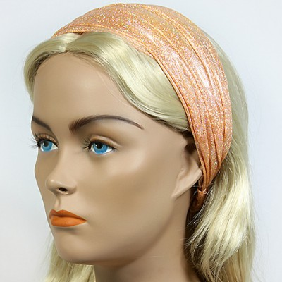 Headband - 12 pcs Metallic Headband - Gold - HB-HDB102102
