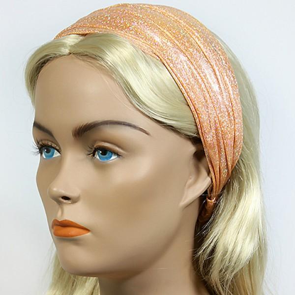 Headband - 12 pcs Metallic Headband - Gold - HB-HDB102102