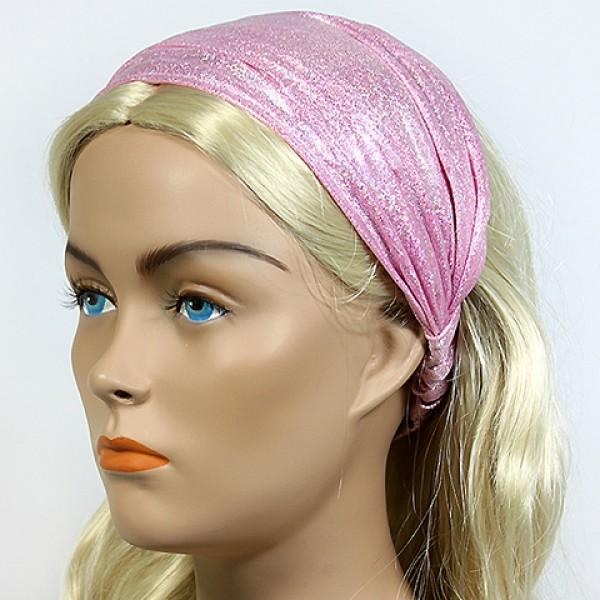 Headband - 12 pcs Metallic Headband - Pink - HB-HDB102104