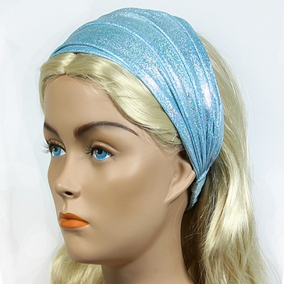 Headband - 12 pcs Metallic Headband - Light Blue - HB-HDB102105