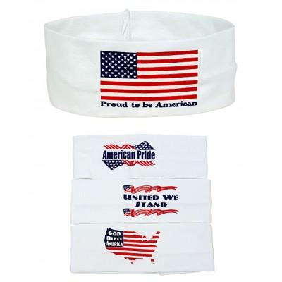 American Flag Print Headband - 12 PCS Pack