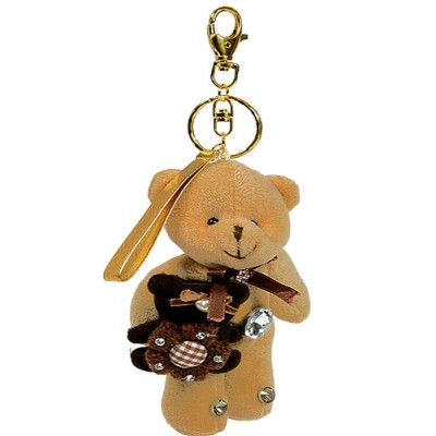 Key Chain Pack - Teddy Bears - Taup - KC-GEB04TP