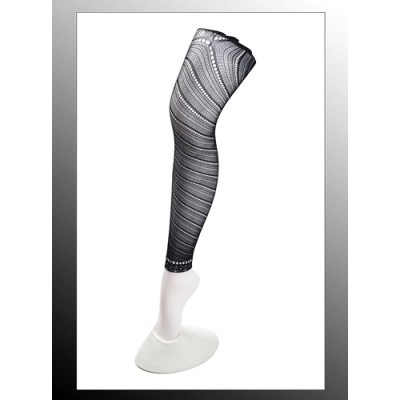 Leggings/ Tights/ Pantyhose - Mesh - Black - SK-LGN2478