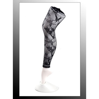 Leggings/ Tights/ Pantyhose - Mesh - Black - SK-LGN2479